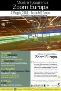 manifesto della mostra Zoom Europa